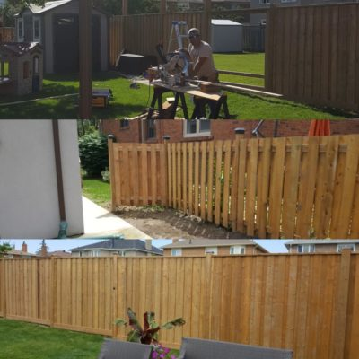 Deck and Fencing Before/After