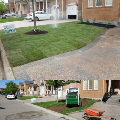 Residential landscaping Before/After